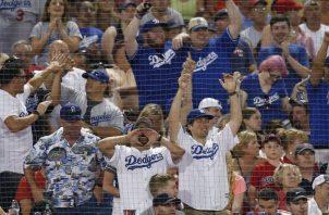 Fanáticos de los Dodgers. AP