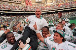 Don Shula con Miami Dolphins. AP