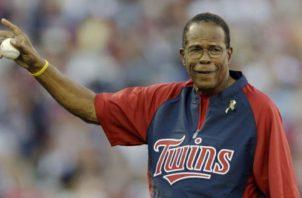 Rod Carew jugó para los Mellizos y Angelinos en las Grandes Ligas. Foto:AP