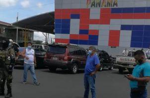 Camioneros panameños se mantuvieron durante dos semanas protestando en la frontera con Costa Rica. Archivo