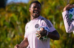 El panameño Román Torres defensa central del Inter Miami festeja el regreso a la competencia en la MLS. Foto:romantorres_05