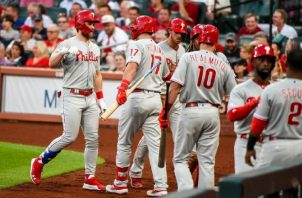 Jugadores de los Filis de Filadelfia.  Foto: @Phillies
