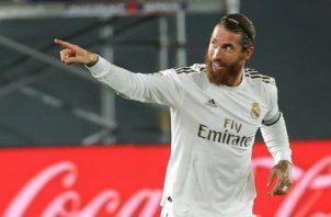 Sergio Ramos, celebra el segundo gol del Real Madrid. Foto: EFE