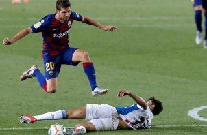 Messi en el partido ante Espanyol. Foto:EFE