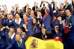 El equipo de Europa es el actual campeón de la Ryder Cup. Foto: EFE