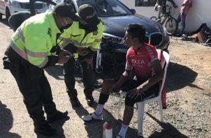 Nairo Quintana fue arrollado por un conductor imprudente. Foto:@AlcaMotavita