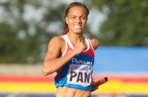 Nathalee Aranda atleta de salto largo. Foto: Pandeportes