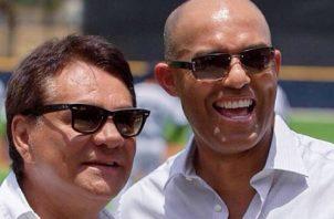 Roberto Durán y Mariano Rivera, dos glorias del deporte panameño. Foto:@robertoduranbox