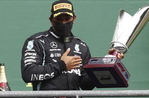 Lewis Hamilton se llevó el Gran Premio de Bélgica. Foto:EFE
