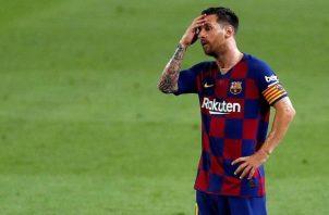 Messi sostuvo que no iría a juicio con el Barcelona, es el club de su vida. FotO:EFE