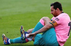Messi anotó dos goles en el amistoso con el Girona. Foto:EFE