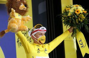 Tadej Pogacar es el nuevo líder del Tour de Francia. Foto:EFE