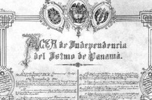 Acta de Independencia del Istmo de Panamá. En noviembre de 2021, celebramos 200 años de independencia de España.