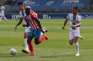"""El panameño José Luis """"Puma"""" Rodríguez (cent.) anotó su primer gol de la temporada con Lugo. Foto:@CDLugo/ Foto:@CDeportivoLugo"""