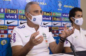 Tite es el técnico de Brasil. Foto:EFE