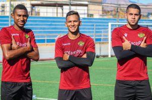 Los panameños Jossiel Núñez, Albert Frutos y el hondureño Josué Villafranca. Foto:@CFIntercity
