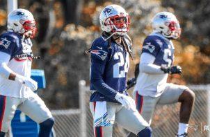 Jugadores de los Patriots en los entrenamientos. Foto:@Patriots