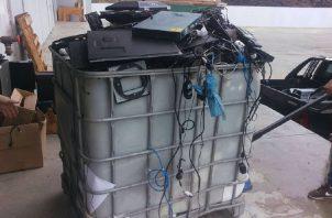 Desecho de aparatos electrónicos. Foto Cortesía: Renuevo Panamá