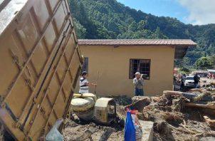 Muchas personas en Cerro Punta pendieron sus casas, sus sembradíos y la cosecha. Mayra Madrid