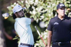 Abraham Ancer de México en acción en el Masters de Augusta. Foto:EFE