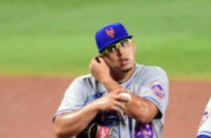 Ariel Jurado solo pudo lanzar en un partido con los Mets. Foto:Twitter