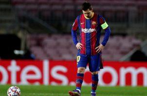 Leo Messi, lamenta la derrota ante la Juventus. Foto: EFE