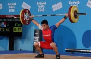 Ronnier Martínez sigue destacando con las pesas. Foto:COP