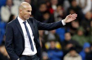 Zidane, técnico de Real Madrid. Foto:EFE