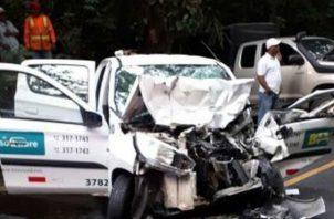 Impactante choque entre varios vehículos. Foto: @TraficoCPanama