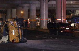 El accidente de tránsito se produjo cuando un taxi Hyundai Accent colisionó de manera frontal con un automóvil Suzuki Ciaz, de color rojo vino.