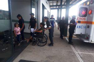 """Fueron atendidos en el hospital """"Chicho"""" Fábrega. Foto:Melquíades Vásquez."""