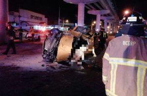 Cinco personas murieron el pasado 25 de mayo en el accidente de tránsito frente a Los Pueblos.