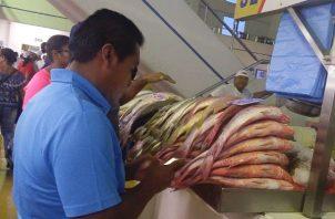 Personal de información de precios y verificación actualizó los precios de los productos del mar.Foto: Acodeco