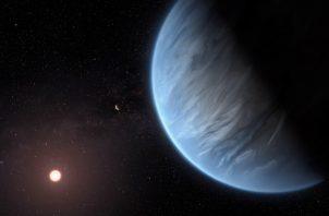 El exoplaneta estudiado orbita alrededor de una estrella enana roja, K2-18, a unos 110 años luz de distancia de la Tierra, en la constelación de Leo. FOTO/AP