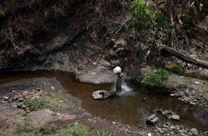 Ante la falta de agua, se van a los ríos. Foto: EFE