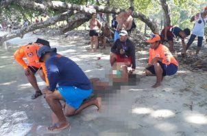 Alerta por presencia de agente marino en playas. Foto/Sinaproc