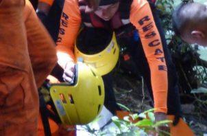 El niño cayó a una quebrada. Foto: Mayra Madrid.