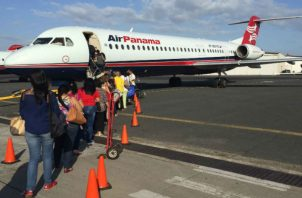 La suspensión de los vuelos de la flota Fokker 50 será temporal. Foto: Archivo