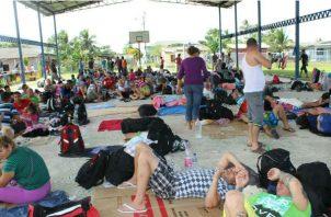 El fin de semana se registró el ingreso al país de unos 716 migrantes.