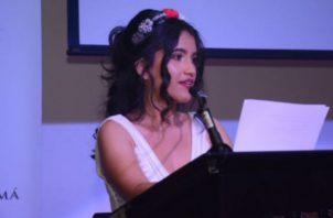 Alessandra Monterrey Santiago, poeta panameña. Foto: Archivo.