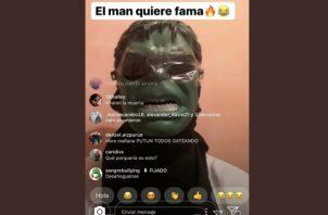El enmascarado utilizó la red social Instagram para amenazar que lanzaría una bomba contra el Instituto Justo Arosemena.