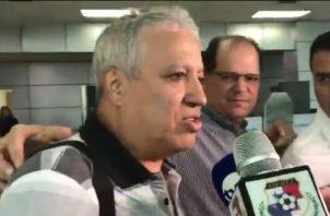 """Américo """"El Tolo"""" Gallego a su llegada a Panamá"""