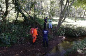 Personal del Sinaproc procedió a realizar la búsqueda del anciano en Chiriquí.