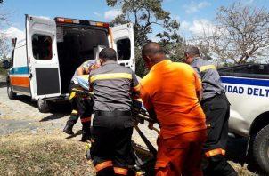 El hombre no podía moverse y fue trasladado a un centro hospitalario para brindarle atención médicoa. Foto/Eric Montenegro