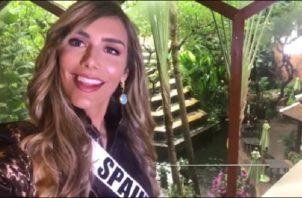 Ángela Ponce envió el mensaje por Instagram.