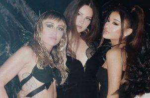 Miley, Lana y Ariana.
