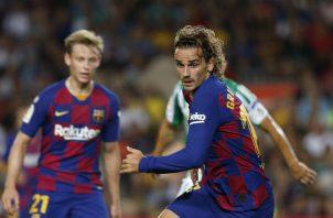 Antoine Griezmann debuta como goleador del Barcelona. Foto AP