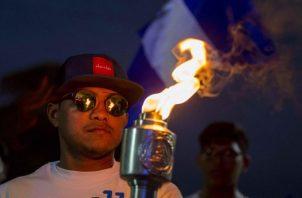 La antorcha, que simboliza la paz, la unión y la libertad de Centroamérica, fue traspasada en medio de un acto cultural binacional, organizado por los ministerios de Educación de Nicaragua y de Honduras.