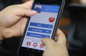 Panameños cuentan con App de emergencia de la Policía Nacional. Foto/Cortesía
