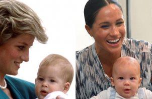 Diana y Harry, Archie y Meghan.